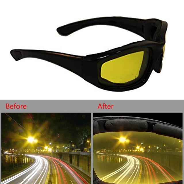 HD Night Vision & Day Glasses High Definition Driving Yellow Lens Glasses