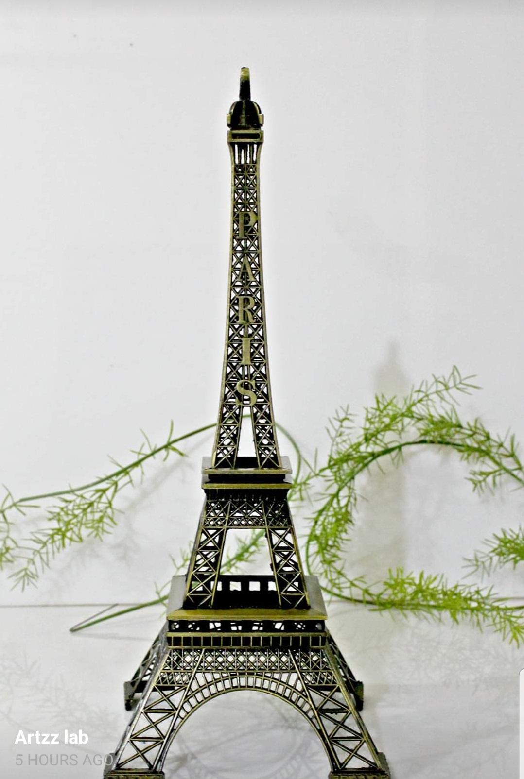 Eiffel Tower Decoration 5 Inch - Brown