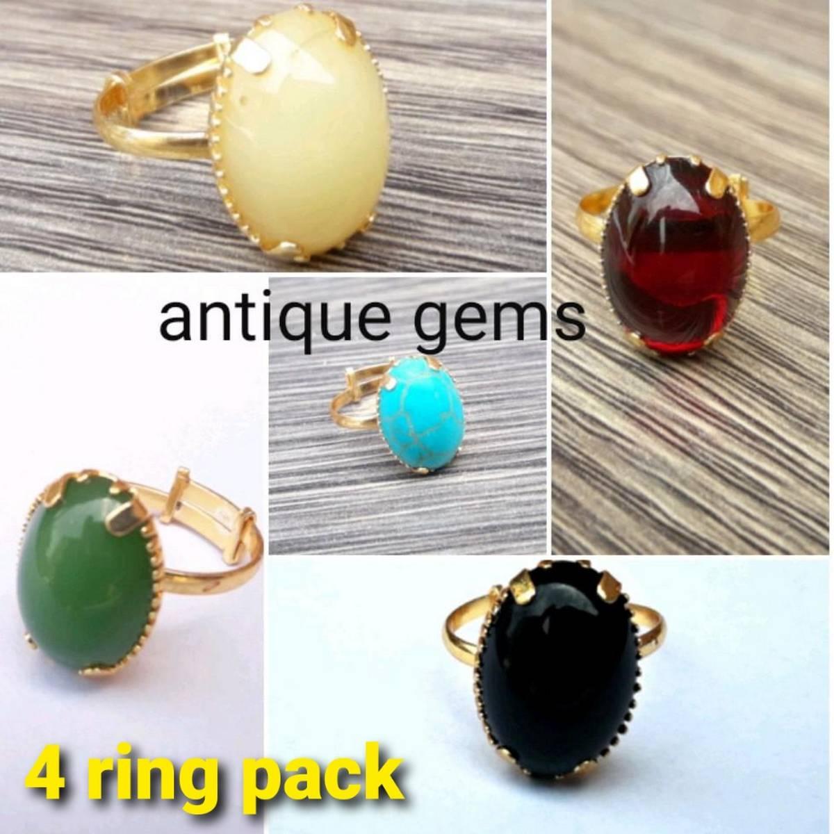 Update feshion Latest design Ladies Stone Ring supreme quality trendy style 4pc