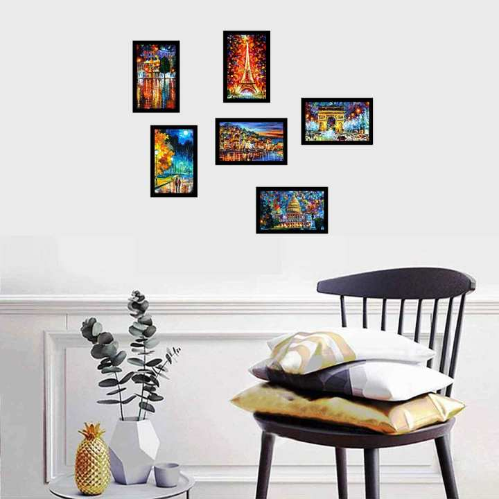 Picture Frames 4X6 Wooden Pack of 6, Pack of 12 pcs For Wall and Table Decor