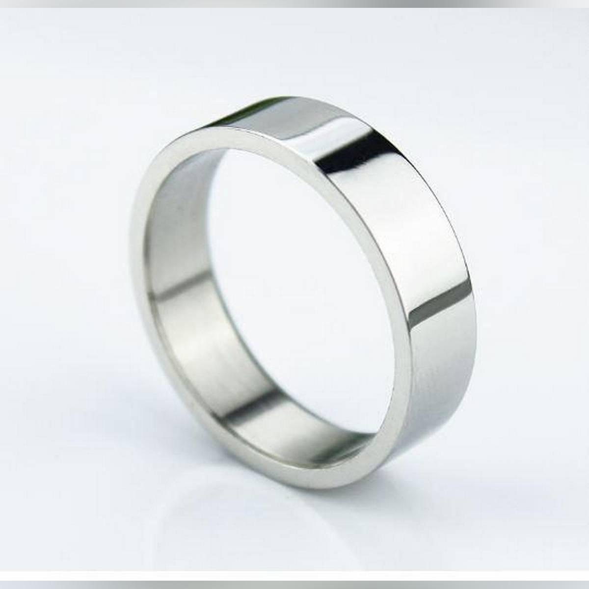 Silver Titanium Fine Stainless  Ring For Men
