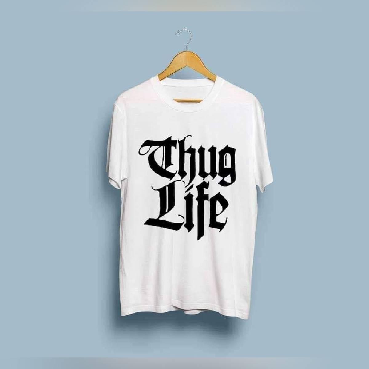 THUG LIFE Printed T Shirt For Summer