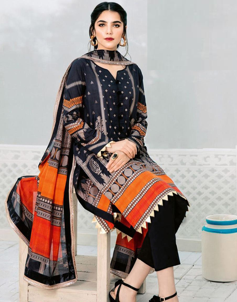 Winter Collection- Linen Marina New Design-Embroidered Unstitched-3PC Suit For Ladies