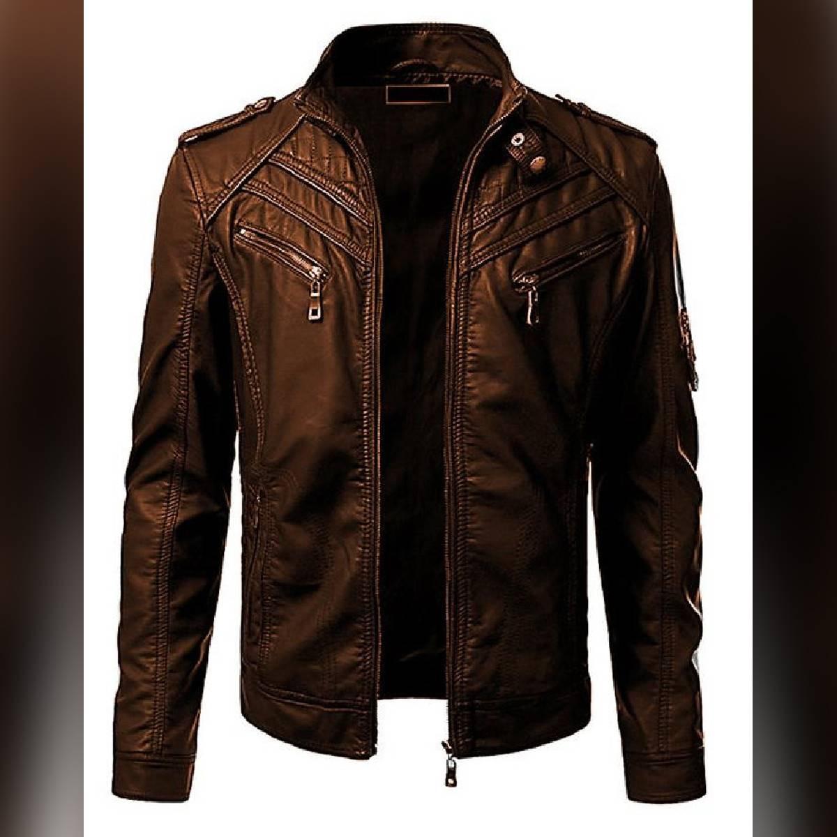 Brown Leather Jacket For Men