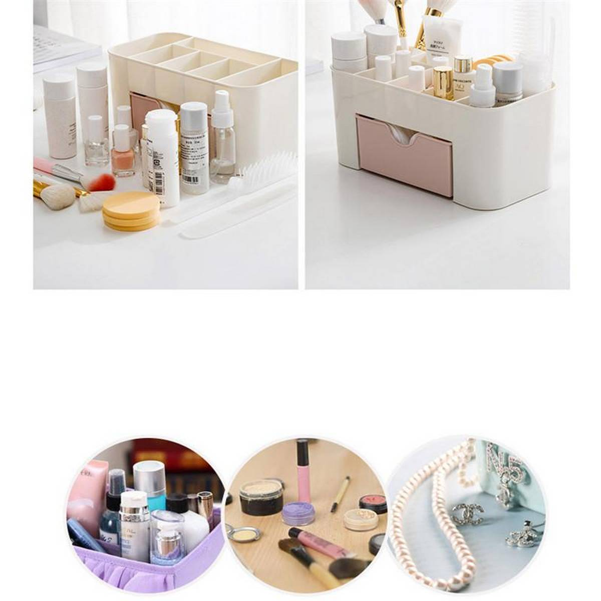 Plastic Makeup Storage Box  Cosmetic Organizer Jewelry Box Small Drawer Office Home Miscellaneous, Organizer Storage Container / Plastic Drawer Cosmetic Box Desktop Make Up Jewelry Case Home Organizer Accessories Supplies Gear Stuff