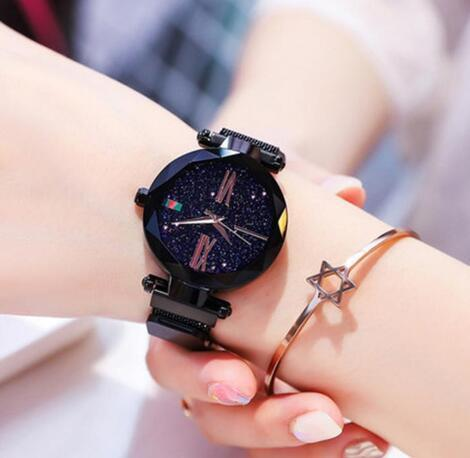 c992c0659 [ Stylish ] High Quality BLACK Magnetic Ladies Wrist Watch For Girls Women