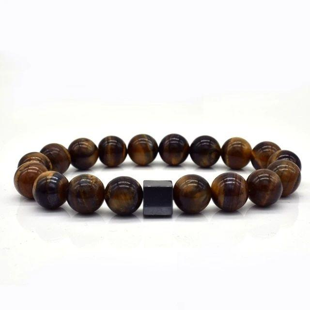 High quality brown beads style bracelet for men