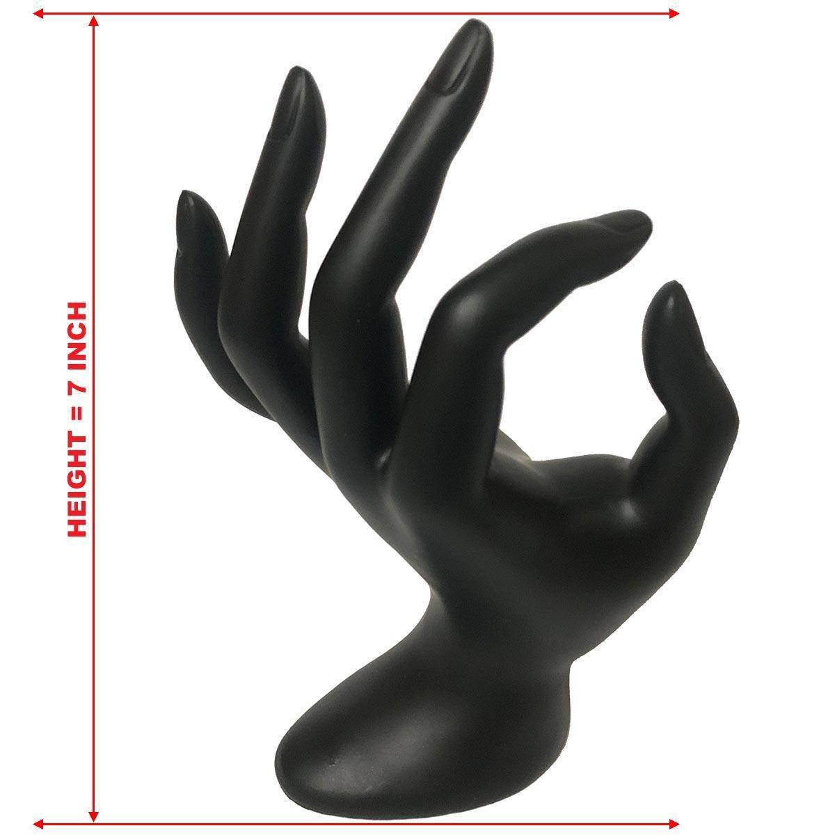 Jewellery Display Hanging Hand Holder Stand Show Rack Ring Bracelet Necklace - Black