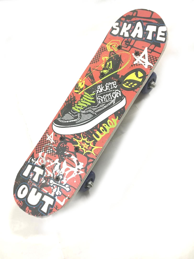 "Skateboard 16.5"" Small Wood for Teens Adults Beginners Girls Boys Kids"