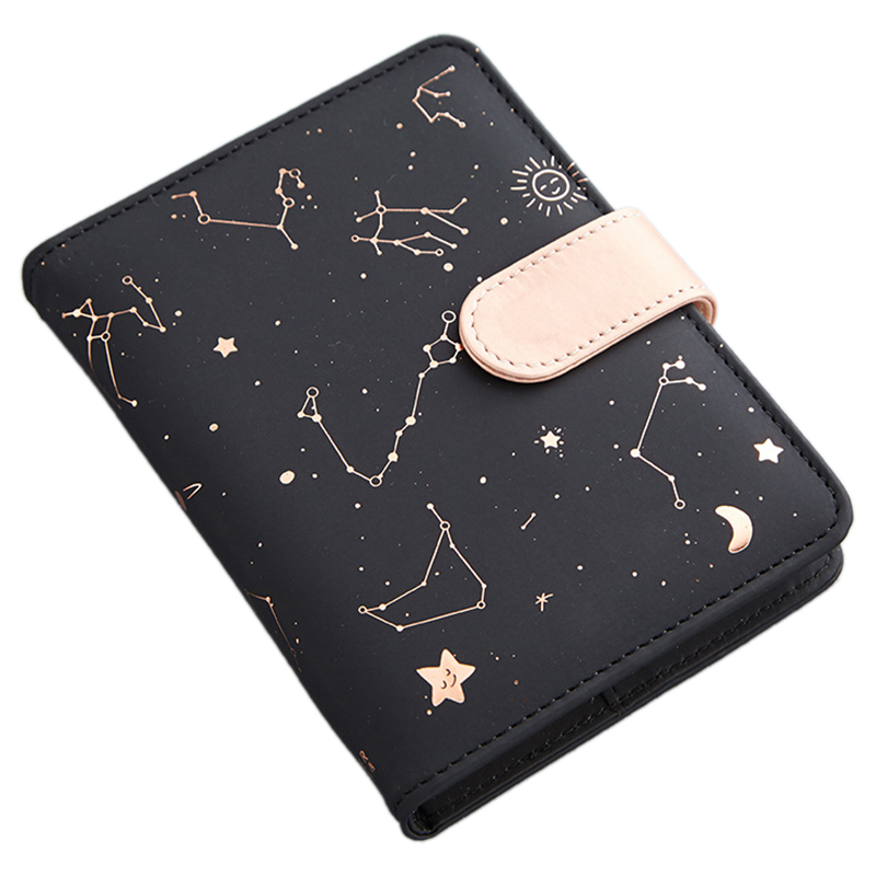 Cute Monthly Daily Planner Lined Study Notebook Journal Travel-Black