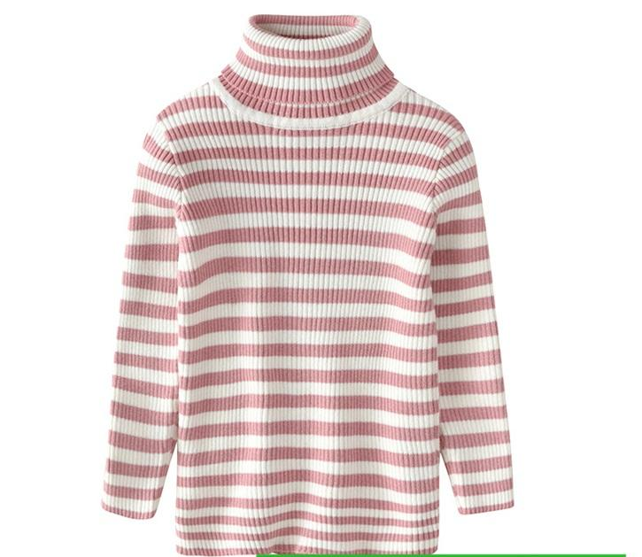 Stretchable slim fit Pink and white lining warm Jersi shirt for winters