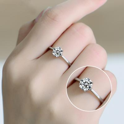 Silver Plated Six claws or four claws ring for girls