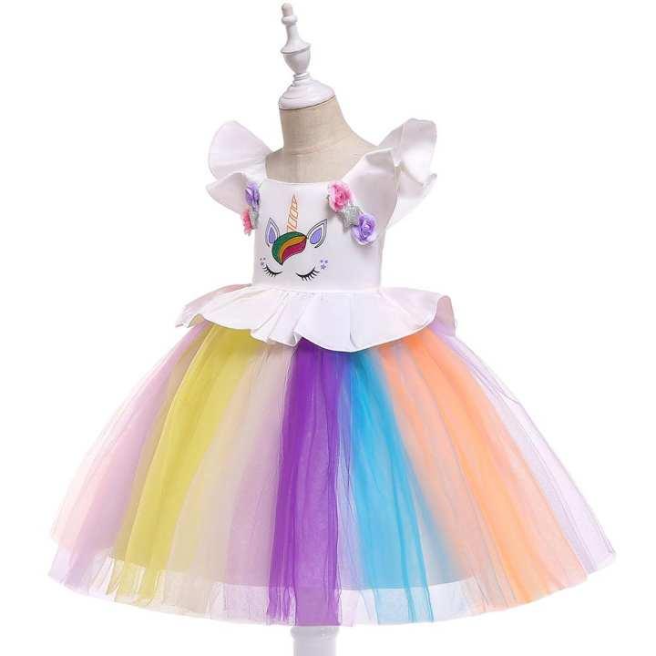 Party Wear Unicorn Dress ( 4 - 7 year old)