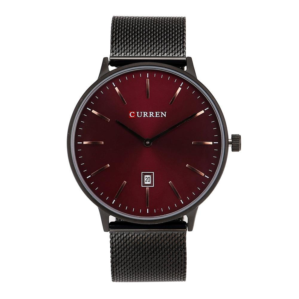 Curren Stainless Steel Japan Quartz Date Analog Watch With Brand Box - 8302