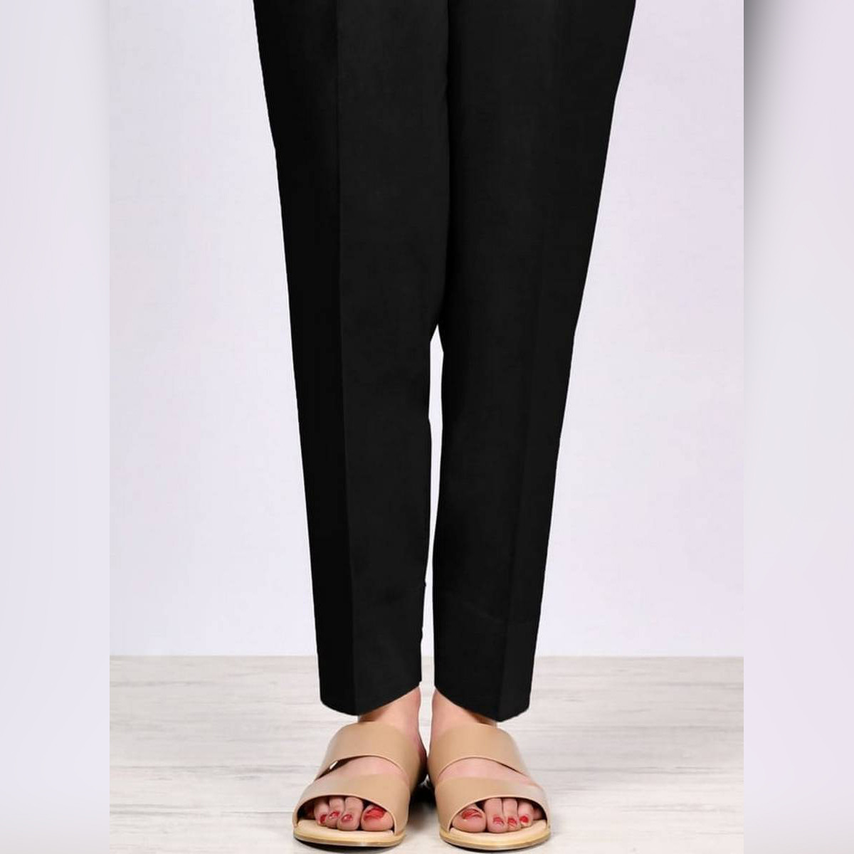 Black Plain Straight Trouser,Pants,Capri For Girls/Ladies imported Fabric