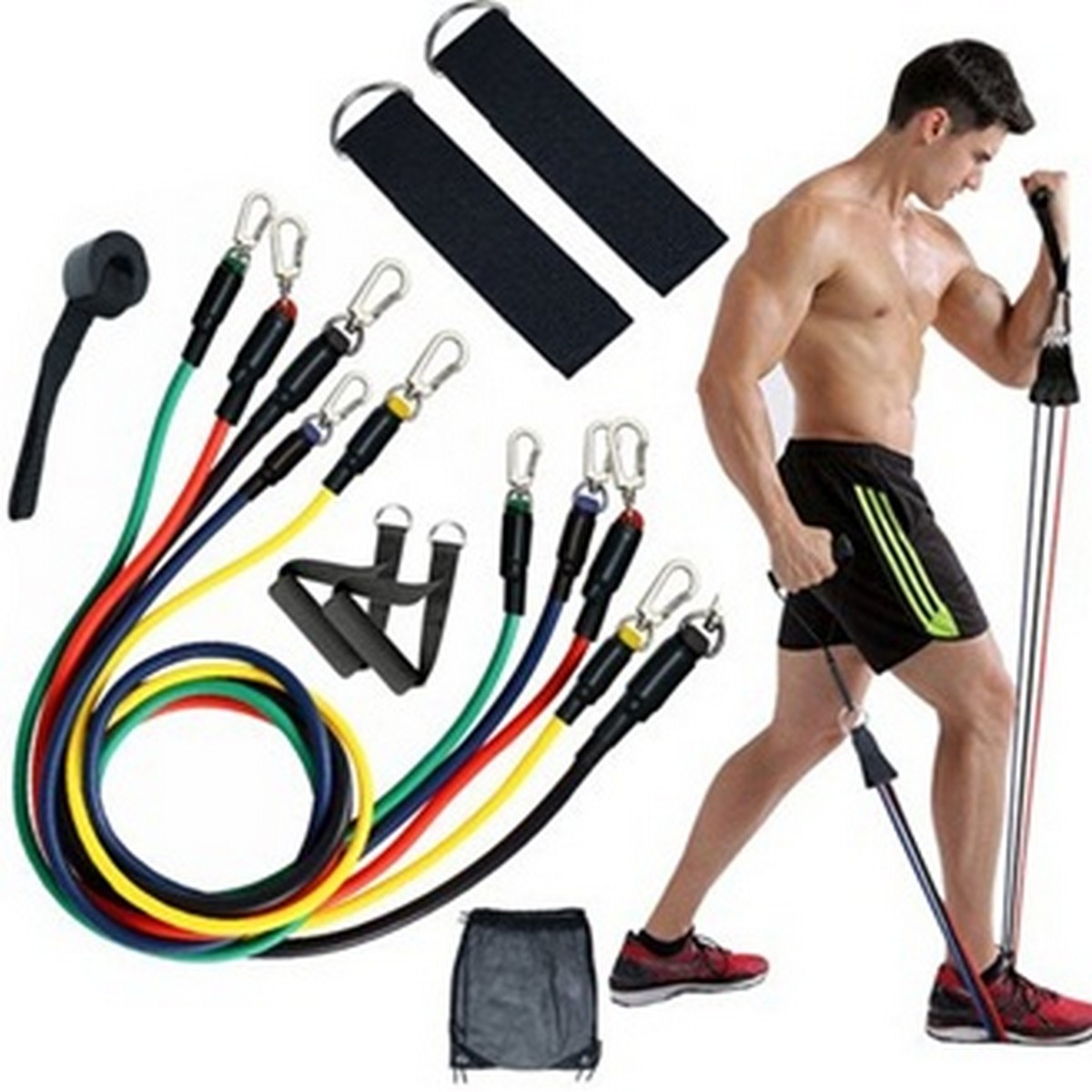 5 In 1 Power Resistance Exercise Band