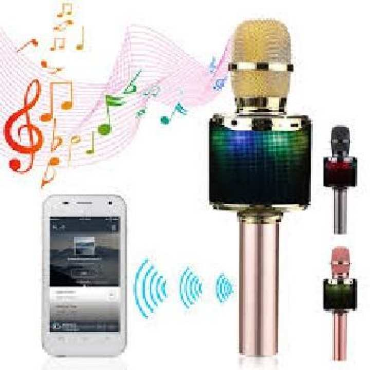 K318 Bluetooth Backlit Condenser Microphone for KTV Karaoke - Golden