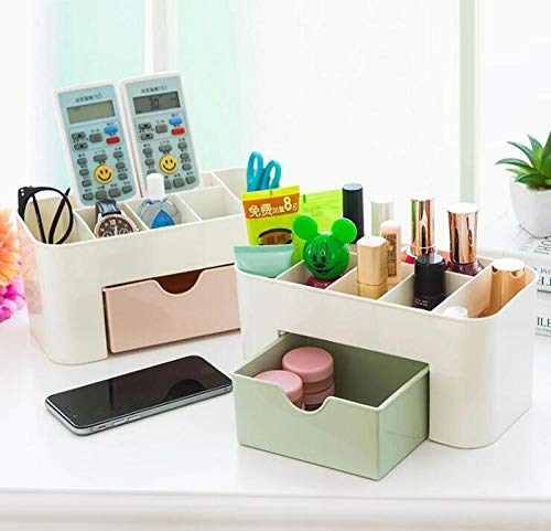 Cosmetics storage box, Cosmetic Make Up Organiser Display Table Desktop Storage Stand, Cosmetic Drawer Type Storage Box Case Holder Brush Pen Jewelry Organizer Saving Space