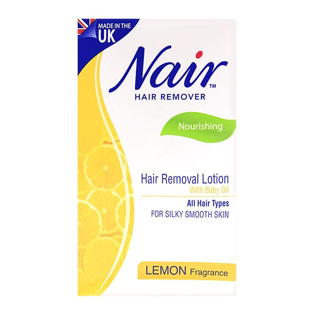 Nair Hair Removal Lotion With Baby Oil Lemon Fragrance 120 Ml