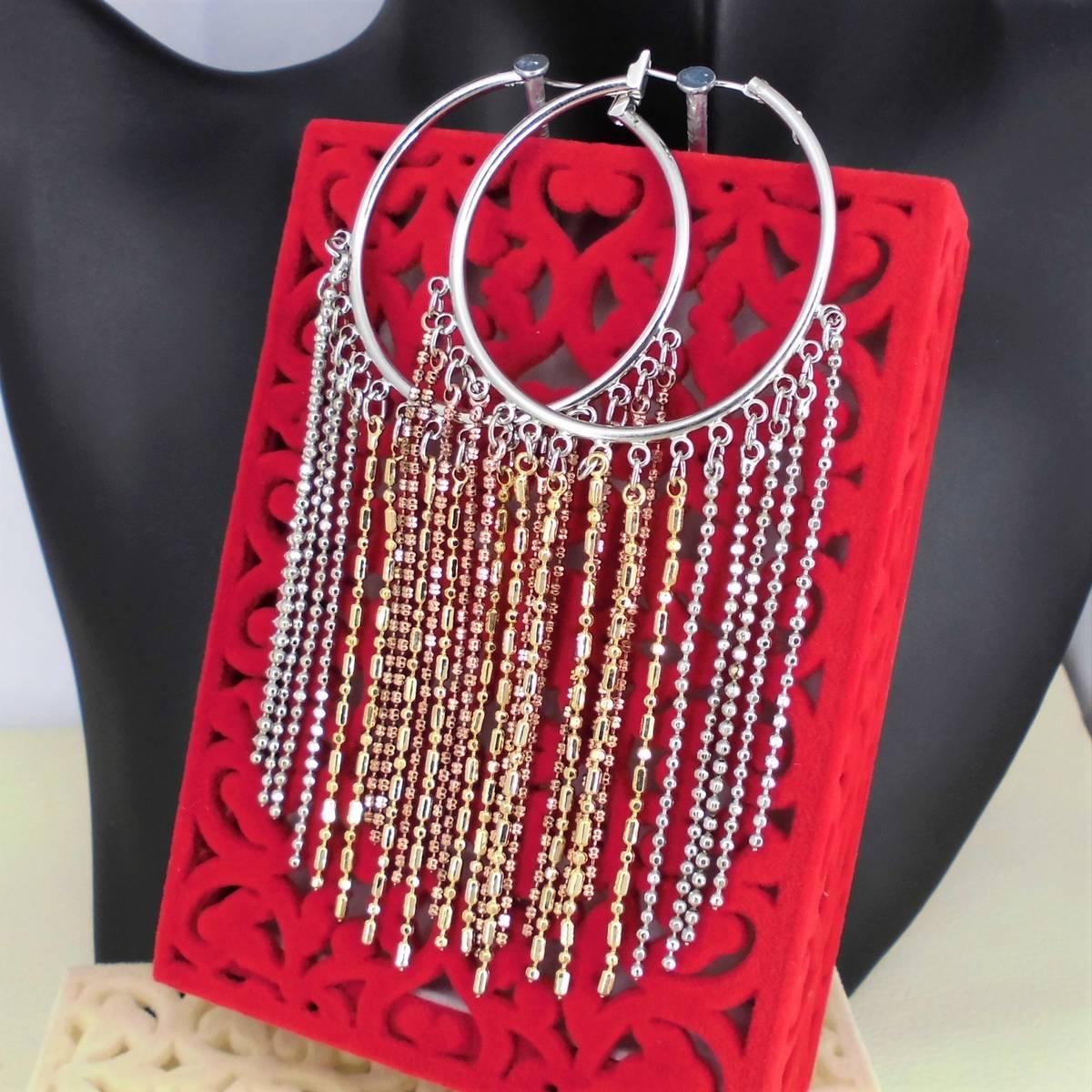 Fashion jewelry earrings dangler chains baali