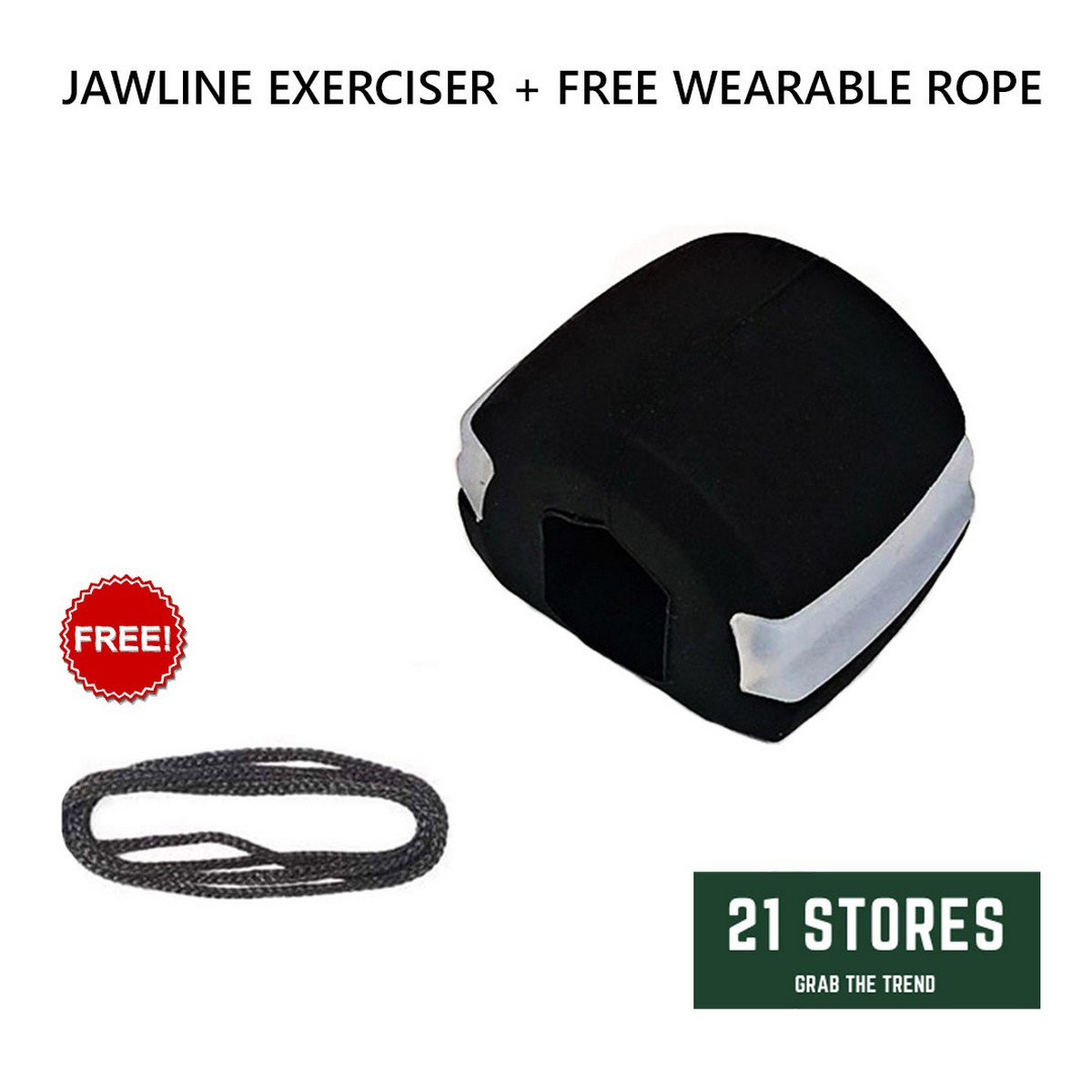 Jawline Exercise Ball, Reduce Double Chin, Jawline Exercise Ball Black for Men and Women