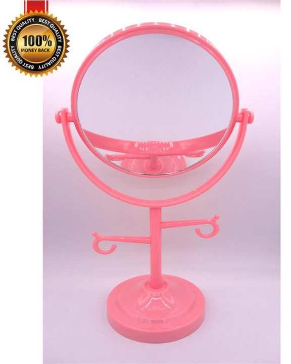 Desk Stand High Quality Beautiful Portable Cosmetic Makeup Mirror Room Mirror Double-Sided Mirror Normal and Magnifying Mirror