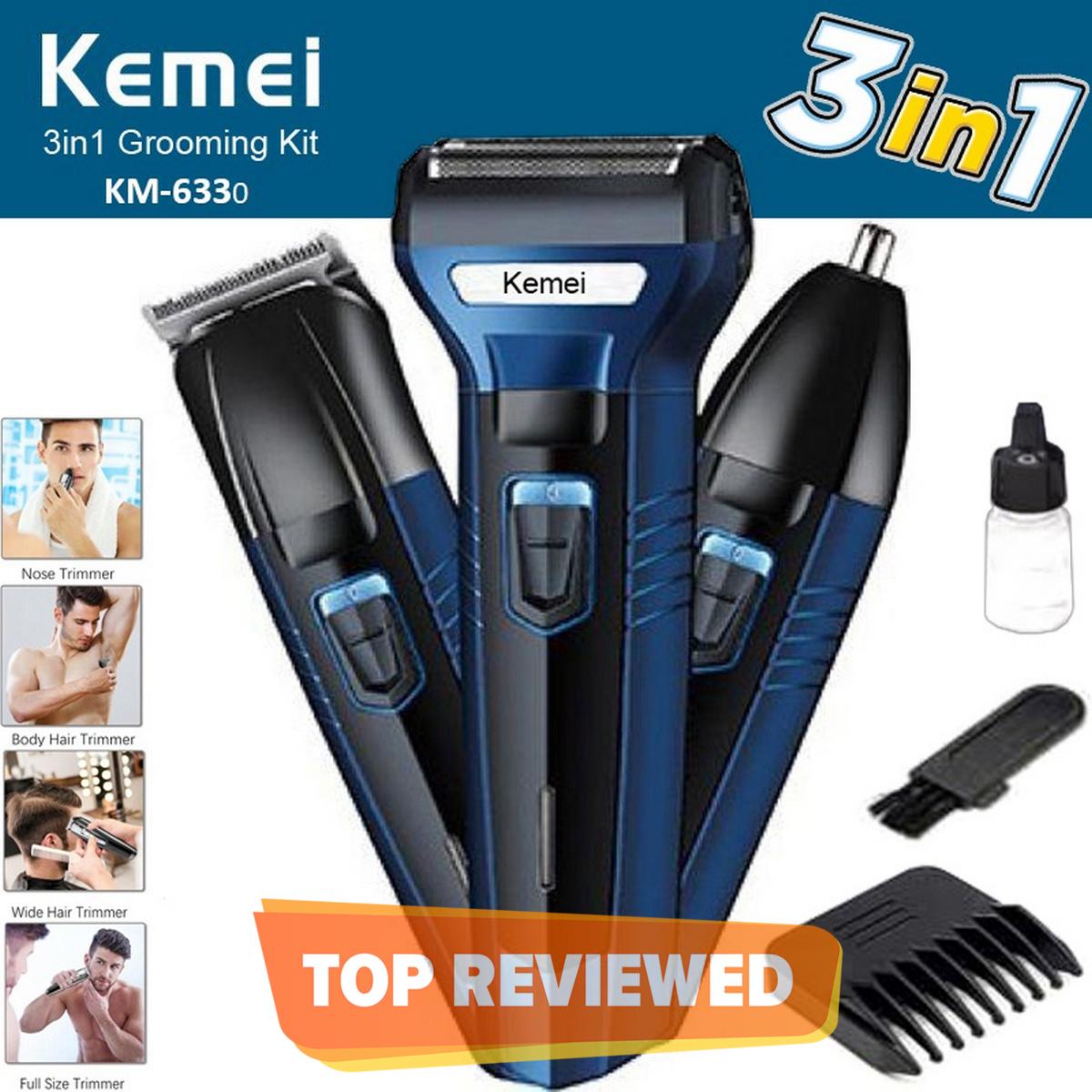 Kemei 3 In 1 Rechargeable Hair Clipper Km-6558