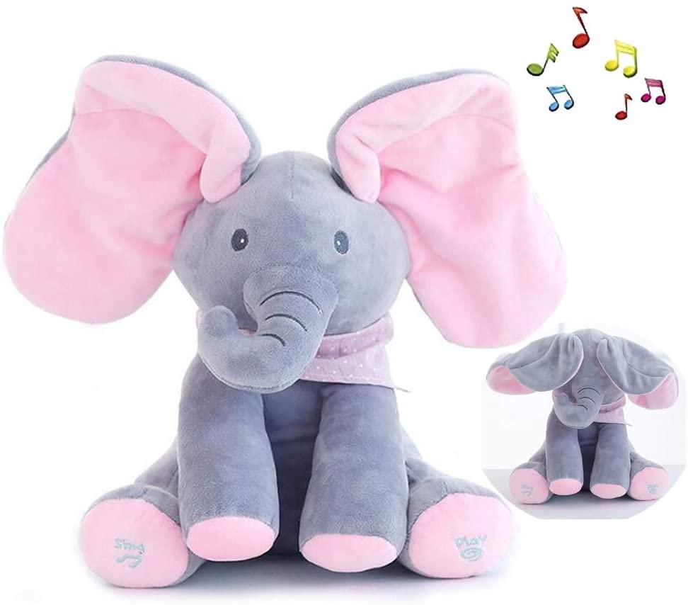 My Baby Elephant Singing Plush Toy Floppy Peek A Boo Elephant Toy Interactive Plush Toy Singing Stuffed Animal Doll Baby Teddy Bear Playing Kindergarten Toys Gift Infant Toddler Kids At Thia.pk