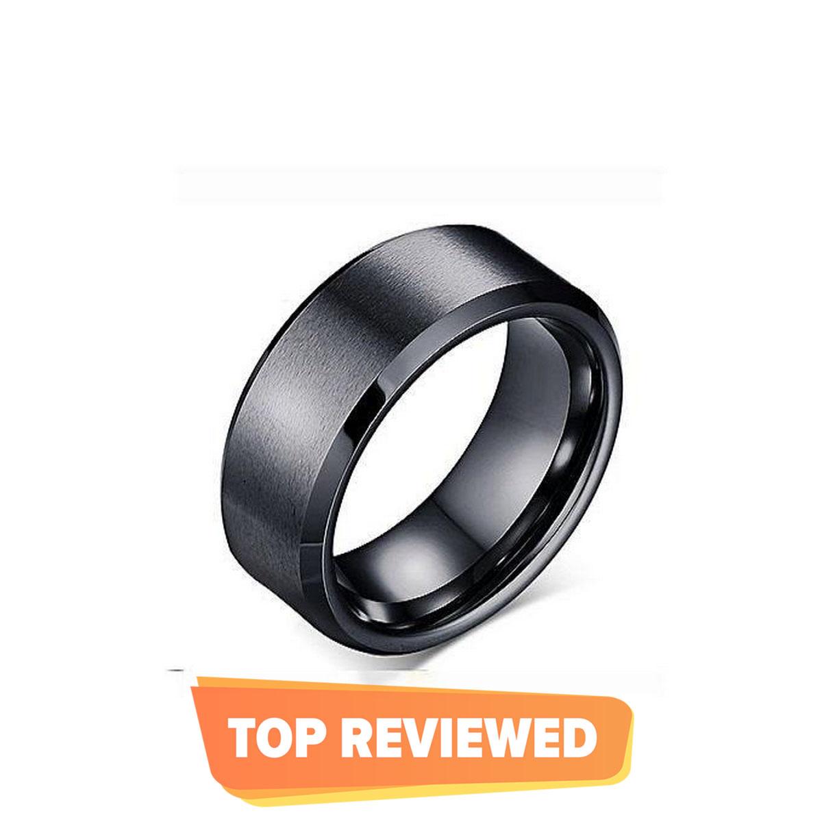 Black Titanium Ring For Men