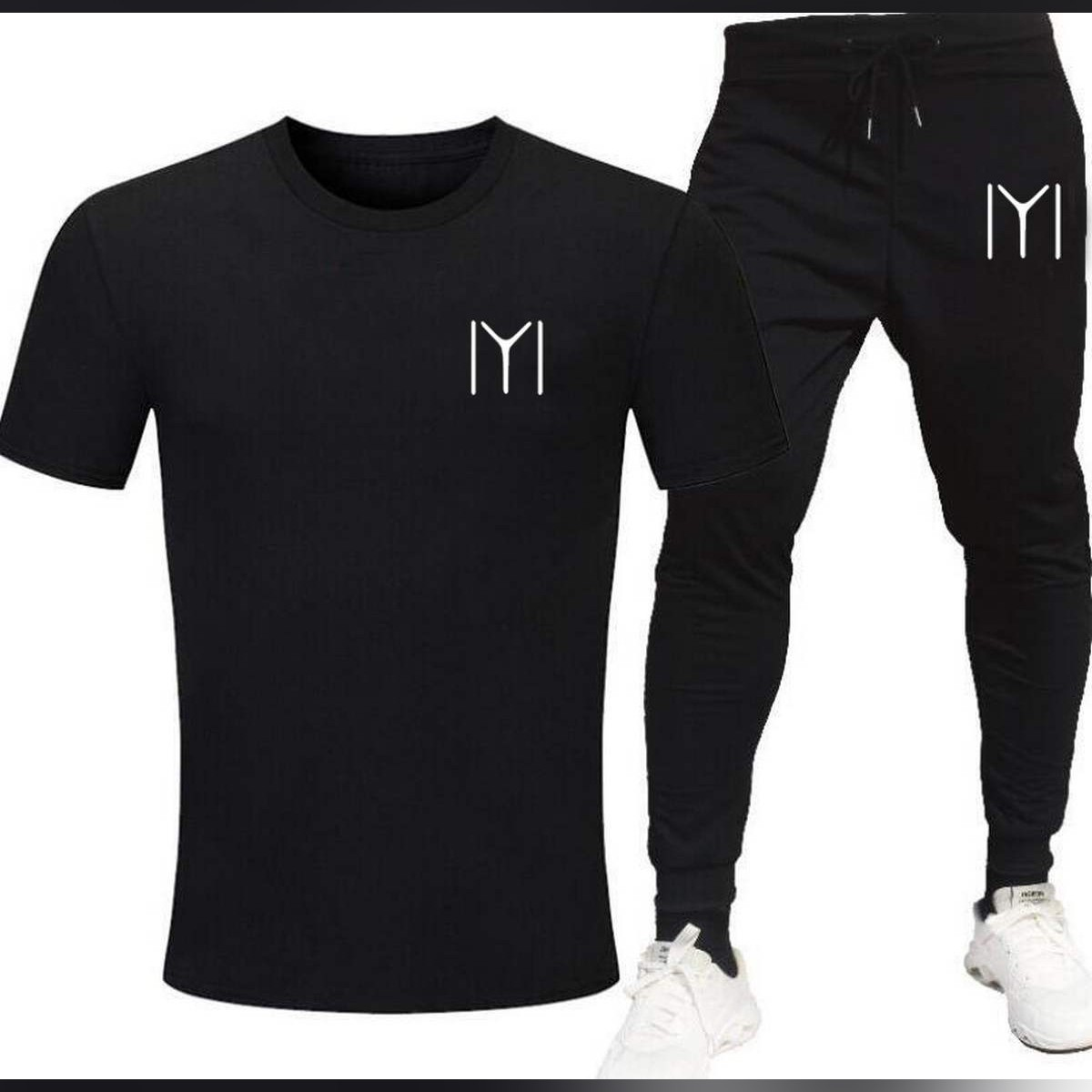 New Printed T Shirt And Trouser Cotton Half Sleeves Tees Summer Collection Top Quality For Men