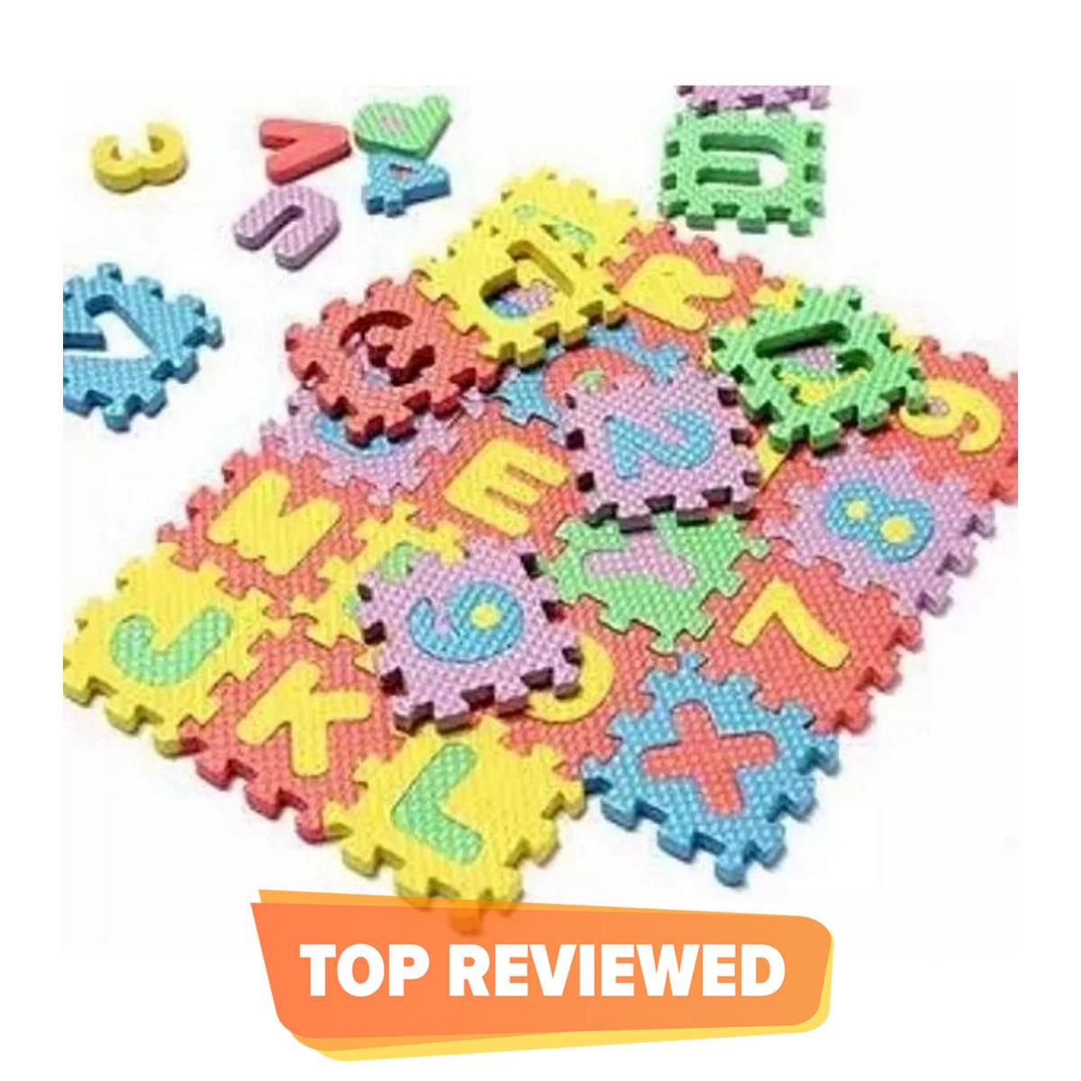 36Pcs Set 4Cmx4Cm Alphabet Letters Numbers Puzzle Kids Puzzles Toys Foam Mat ABC & 123 Puzzle Foam Floor Mat for kids