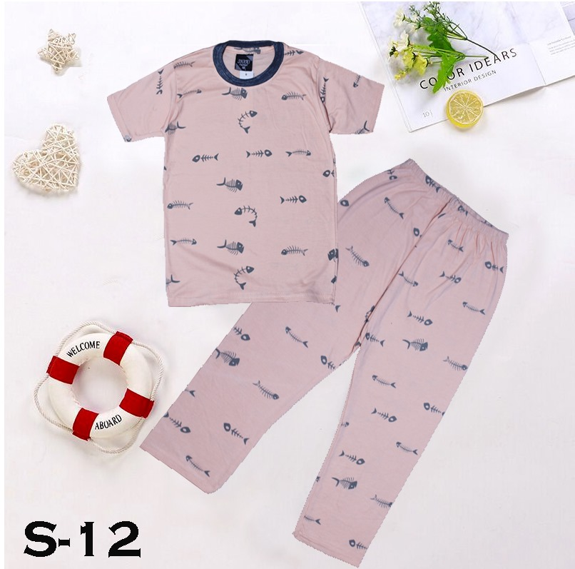 Bindas Collection 2 Piece T-shirt & Pajama Cotton Jersey Printed Suit For Kids