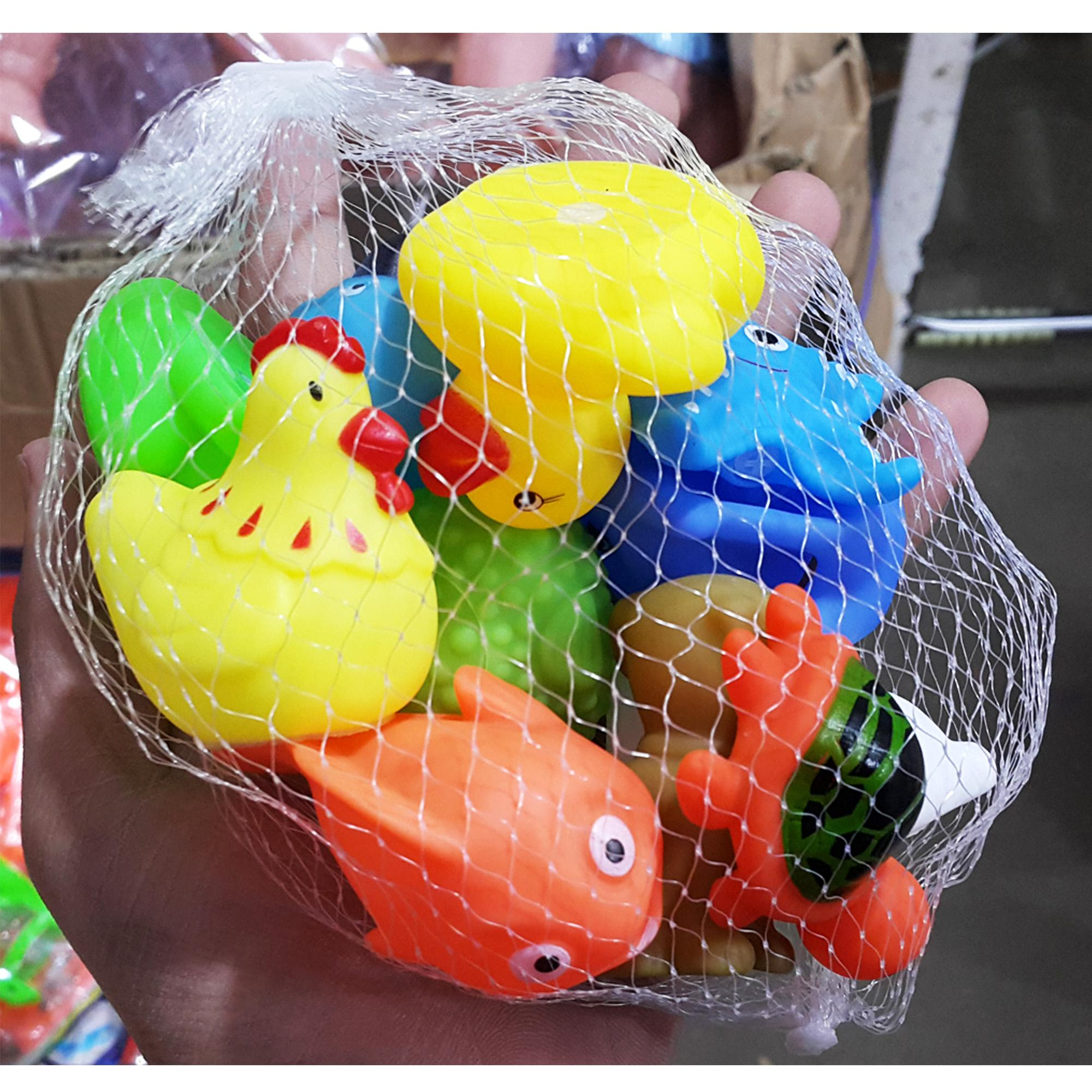 Cute Squishy Whistle Pet / Soft Animals Rattle Packed In A Net - SR