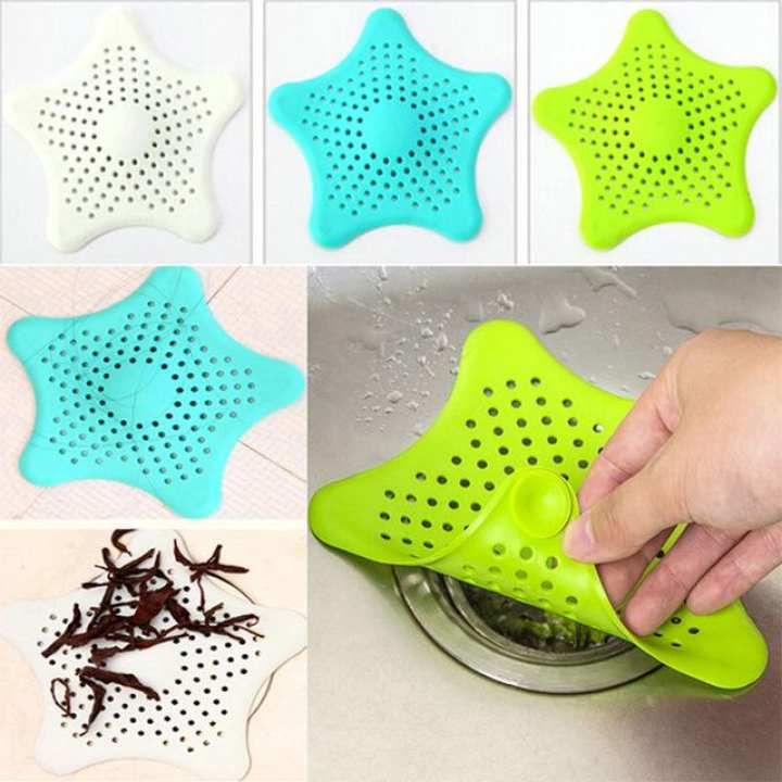 Silicone Rubber Five-pointed Star Sink Filter Sea Star Drain Cover Sink Strainer Leakage Filter for Kitchen and Bathroom