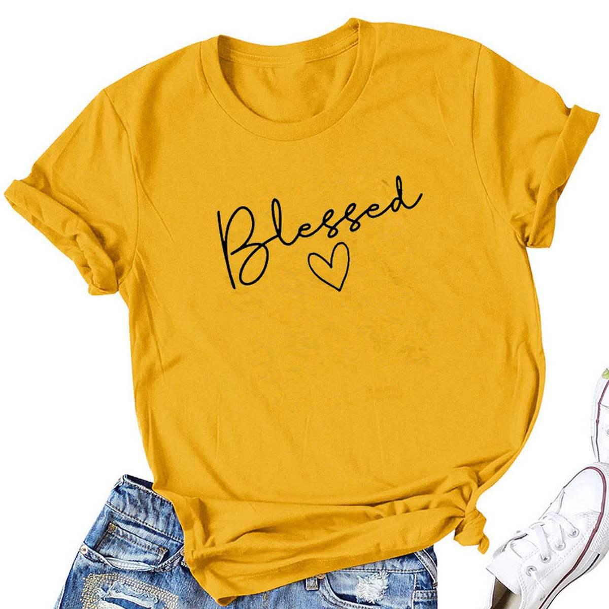 Summer Printed T shirt Half sleeve for girls & Women