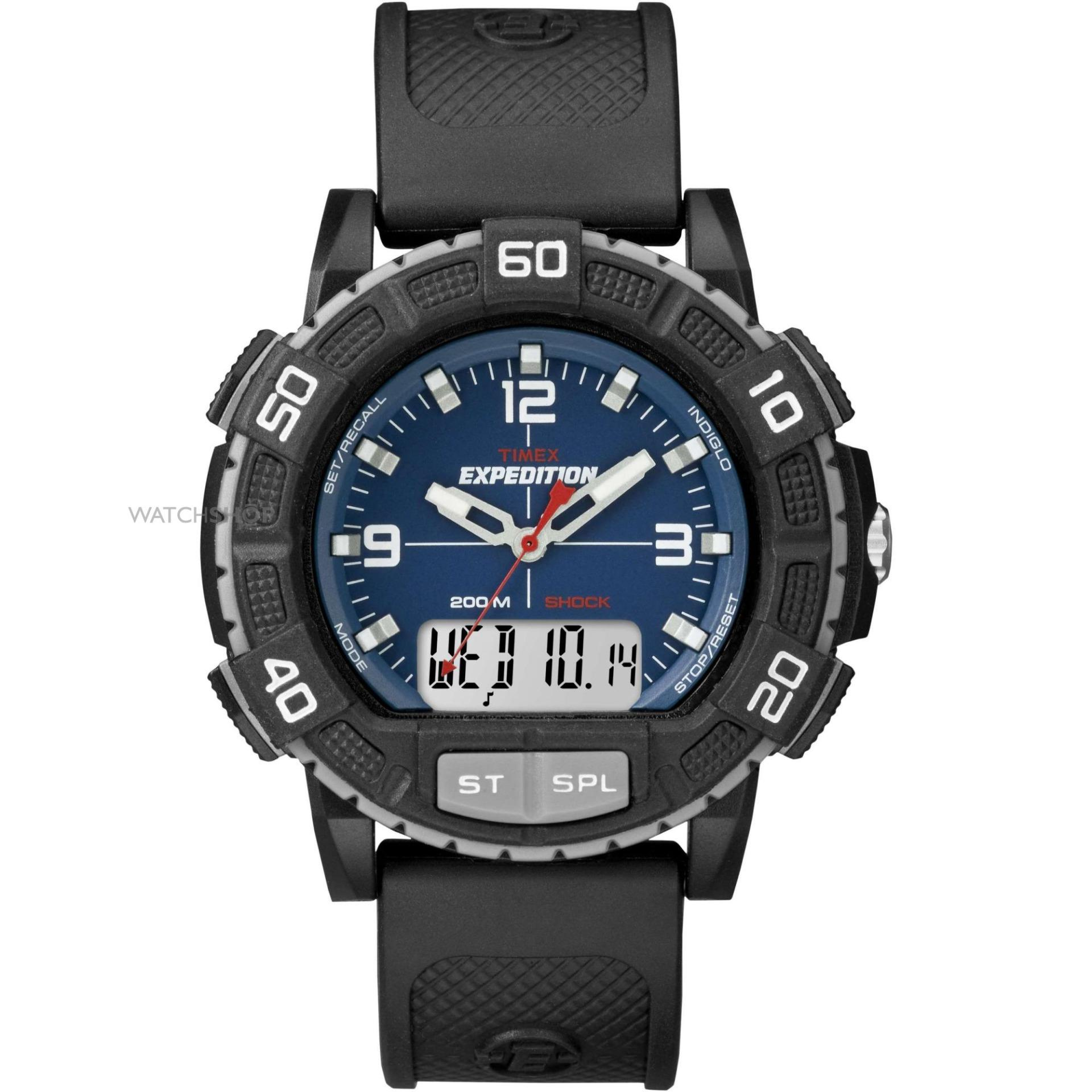 b80102603e37 Blue Men Expedition Alarm Chronograph Watch T49968