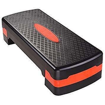 Non-slip Aerobic Stepper 27 Sport Fitness Adjust 4-6 Cardio Step Exercise