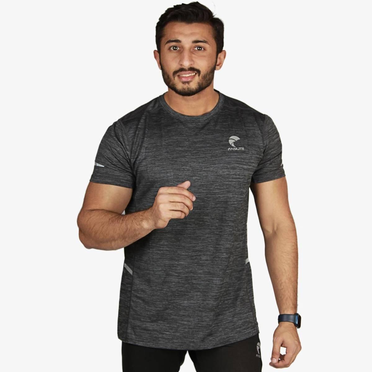 Fasilite Men Sports T-Shirt, Running T-Shirts, Quick Dry Compression Sport T-Shirts, Fitness Gym Running Shirts, Soccer Shirts, Men's Jersey Sportswear