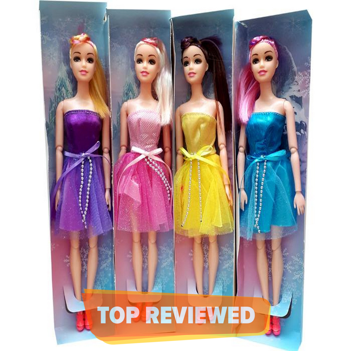1 Piece of beautiful 11 Inch Bendable Doll with Elbow and Knees Bending in Multi Colors send as per availability
