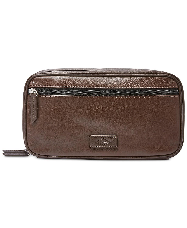 PU Leather Travel Toiletry Bag Shaving Dopp Kit for Men Black Large Capacity
