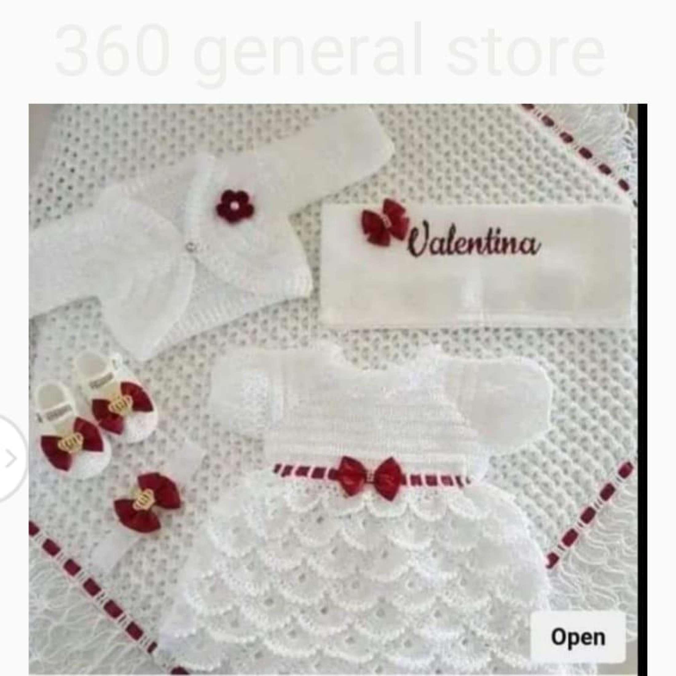 Woolen Baby Frock, Crochet Frock Full Set (Every Size And Color Available)