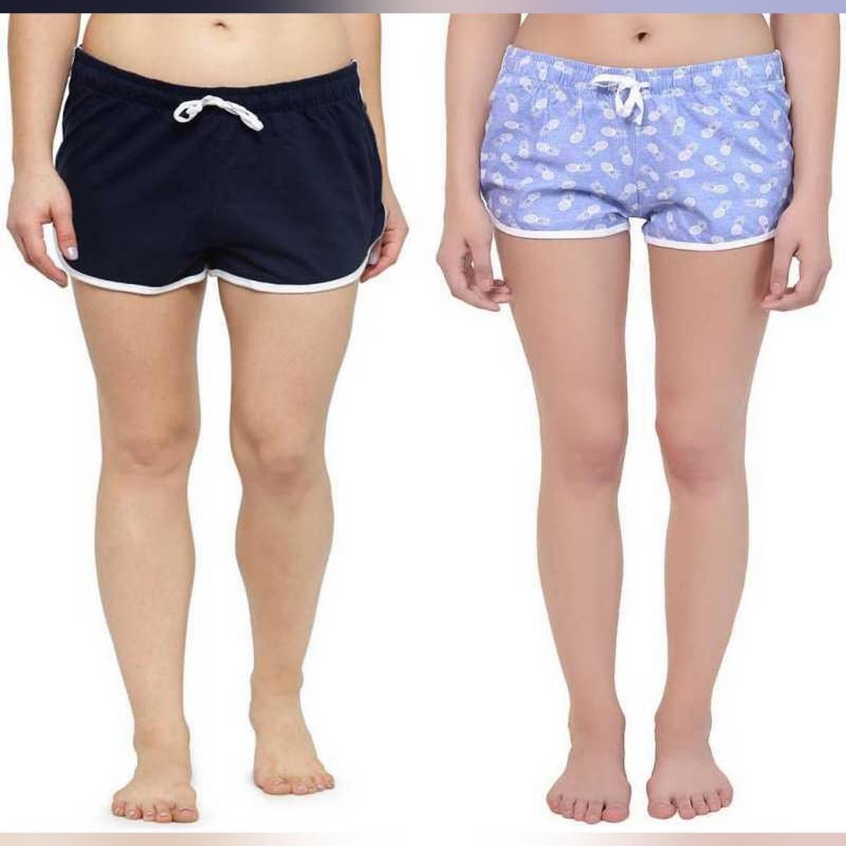 Bundle OF 2 Printed Shorts For Girls & Women