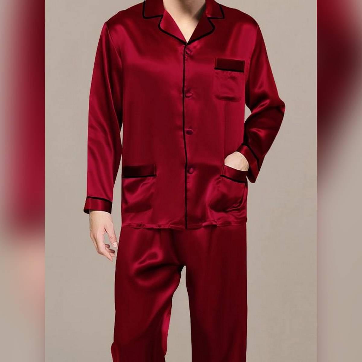 Sebastian Men's silky comfy satin  pajama set Supreme Mens Collection Vol 1 Soft against skin Pajama Set sleepwear