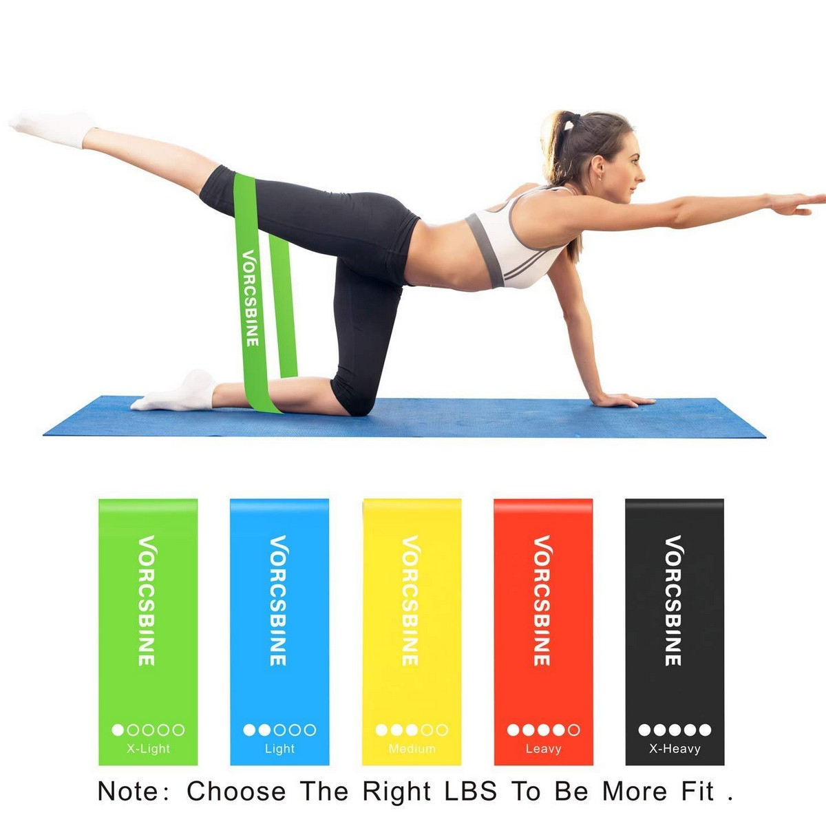 Resistance Bands Exercise, Loop Workout Bands for Home Fitness, Pilates, Physical Therapy,Strength Training,Crossfit