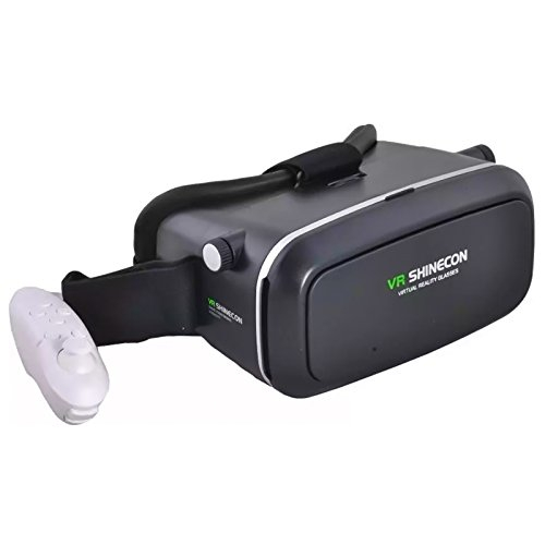 3D Glasses Adjust VR BOX with remote Real Stereoscopic Immersive Movies and Games Experience - mobile VR Box