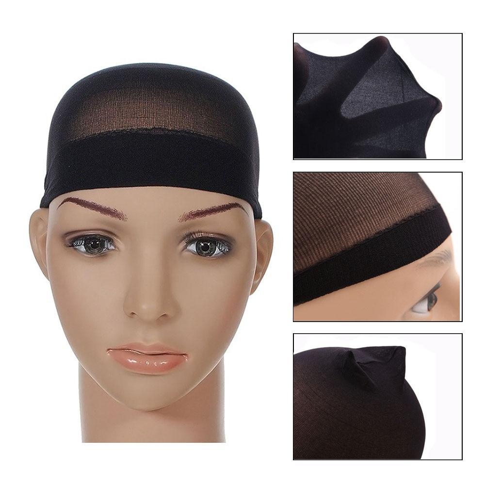Wig Cap Hairnet Hair Mesh Wig Weaving Cap Stretchable Elastic Hair Net Multi Color Random Color delivery 2 Pieces/1BAG