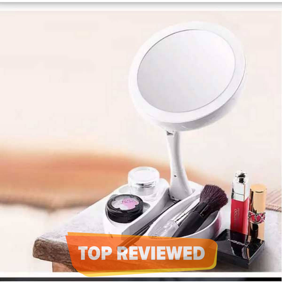 Mirror My Fold Away LED Mirror Care Professional Mirror with Lights Health Beauty Adjustable Portable  my fold away mirror