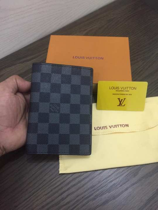 AAA QUALITY LV PASSPORT HOLDER WITH BRAND CARD  & BRAND  DUST COVER