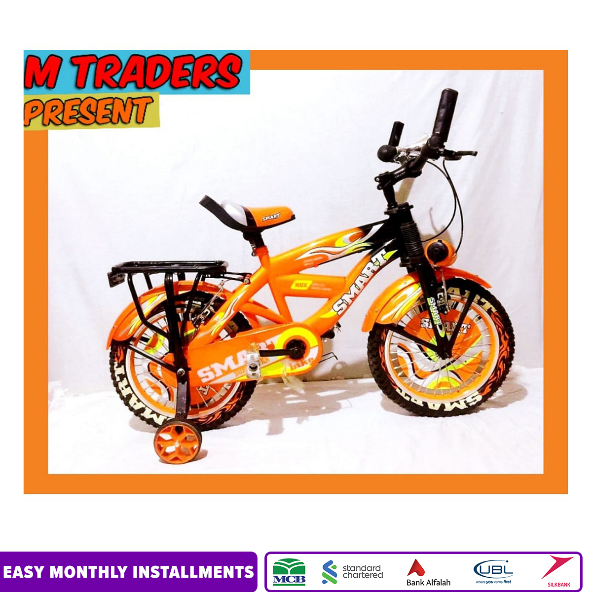 Smart bicycle 16 Inches with Hydraulic brakes New Branded and Stylish look for Boys and Girls=M Traders online