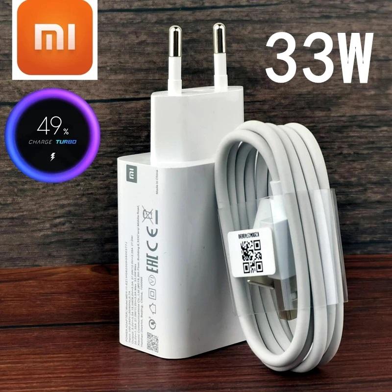 Mi 33W Charger Xiaomi Original Fast Turbo charge adapter usb type c cable for mi 10 9t pro Redmi note 9 10 pro K40 30 POCO X3 Mi 10T 10 Pro 5G Black Shark 3S  Redmi 9 9C 9A K30i K40 POCO M3 Pro 5G Mi 11 Lite